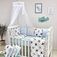 Комплект в кроватку Baby Design Аэроплан, фото 1