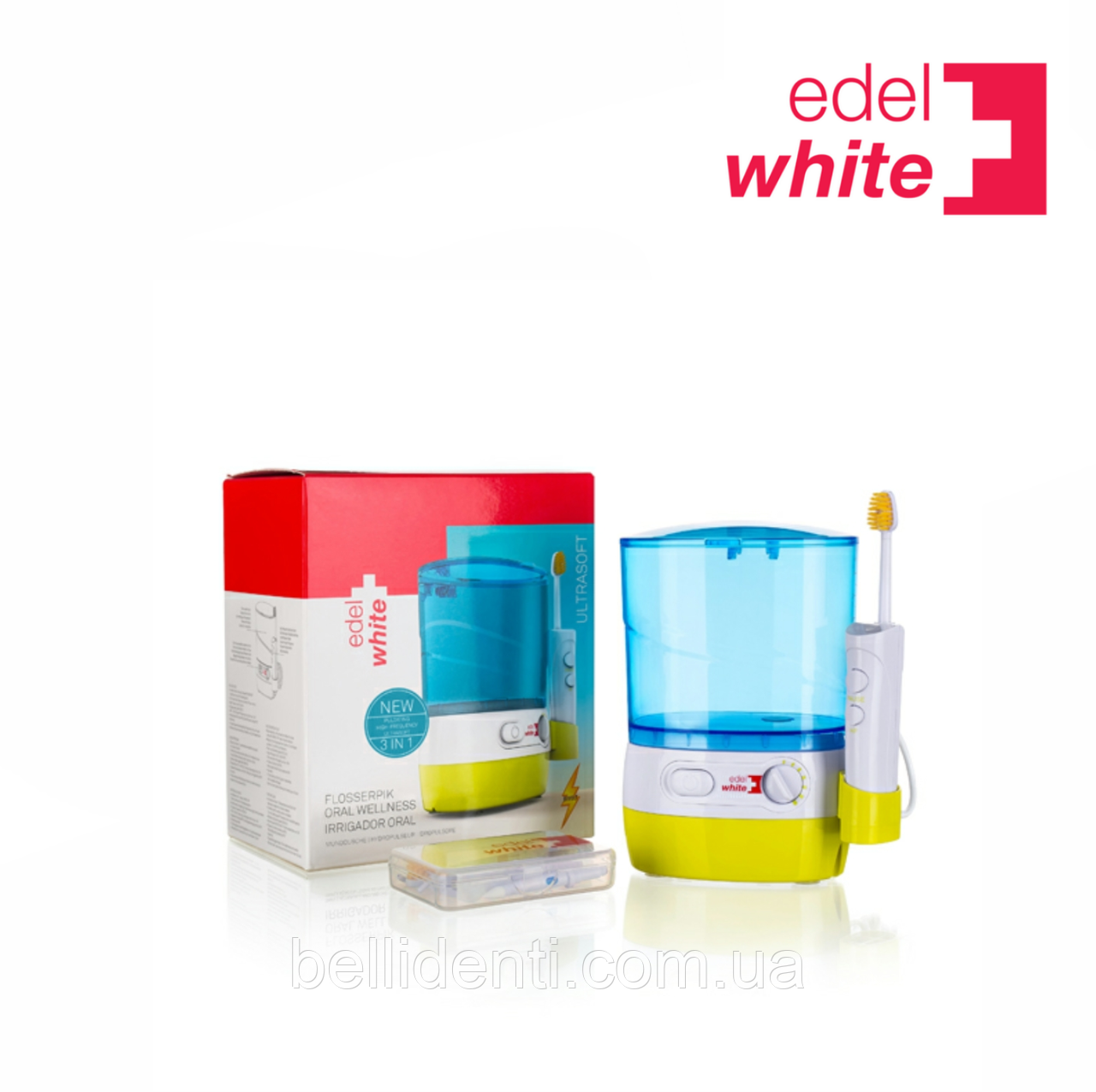 Ирригатор Edel+WhiteFlosserpik waterjet