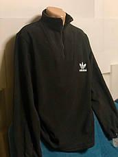 Кофта, толстовка мужская утепленная флисовая на молнии высокого качества брендовая реплика ADIDAS, фото 2