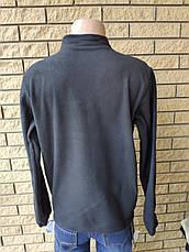 Кофта, толстовка мужская утепленная флисовая на молнии высокого качества брендовая реплика ADIDAS, фото 3