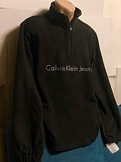 Кофта, толстовка мужская утепленная флисовая на молнии высокого качества брендовая реплика CALVIN KLEIN, фото 2