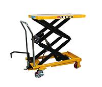 Cтол гидравлический мобильный LPT500, г/п 500 кг, высота подъема 1500 мм, платформа 900х500х50 мм