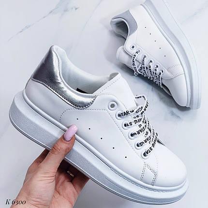 Кожаные кроссовки на толстой подошве, фото 2