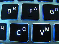 Лазерная гравировка русских букв на клавиатуре, русификация