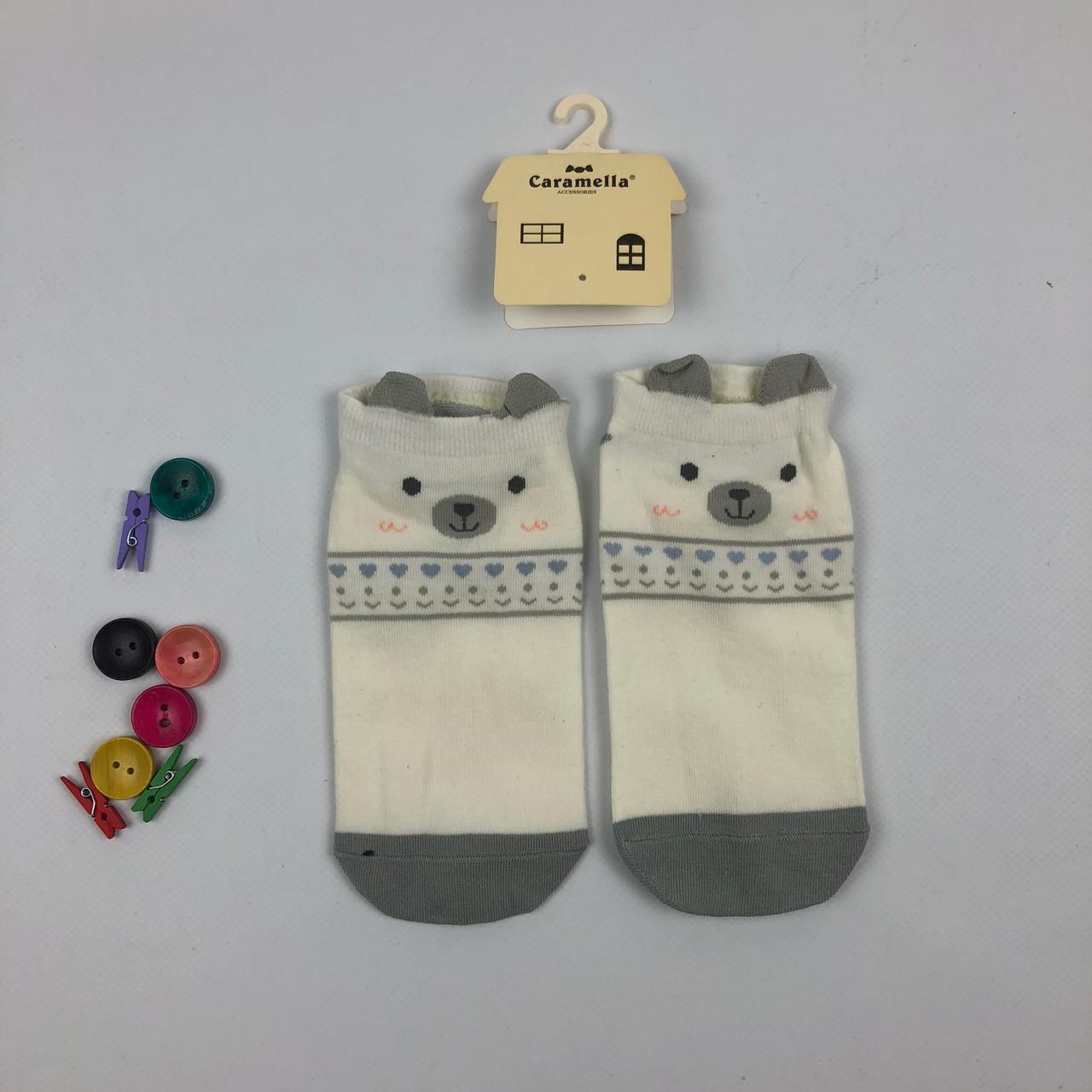Носки Caramella - низкие - с ушками - серые