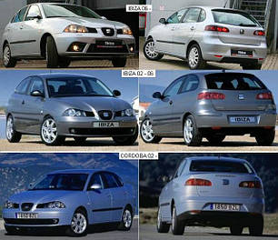 Зеркала для Seat Ibiza 2002-09