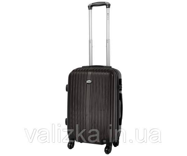 Пластиковый чемоданы малый ручная кладь Fly-063 на 4-х колесах графит