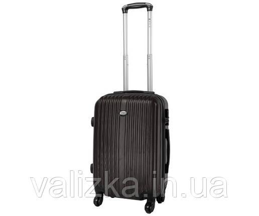 Пластиковый чемоданы малый ручная кладь Fly-063 на 4-х колесах графит, фото 2
