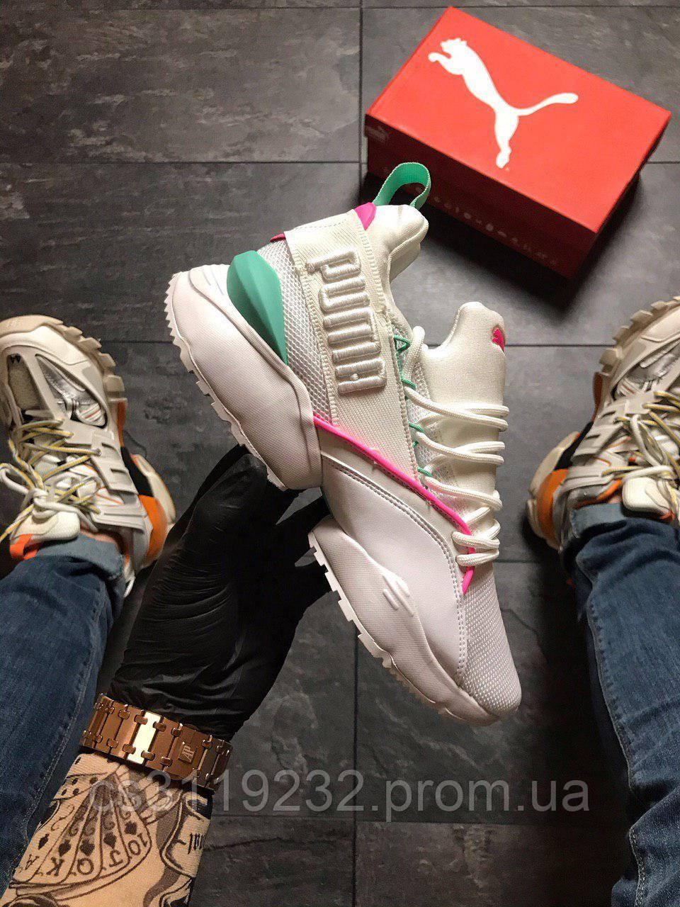 Жіночі кросівки Puma Shantell Martin Muse White with green (білий)