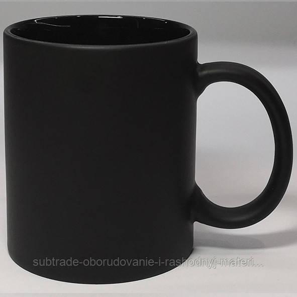 Чашка сублимационная хамелеон матовая цв.внутри ЧЕРНАЯ