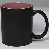 Чашка сублимационная хамелеон матовая цв.внутри РОЗОВАЯ
