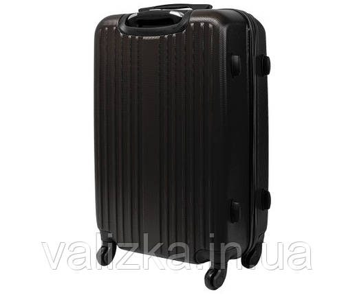 Пластиковий середній валізу Fly-063 на 4-х колесах графіт, фото 2