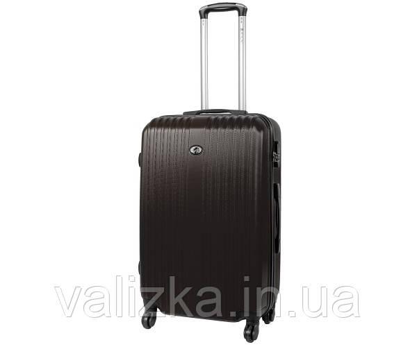 Пластиковий середній валізу Fly-063 на 4-х колесах графіт
