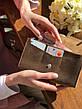 Кожаный клатч Nice женский Коричневый, фото 6