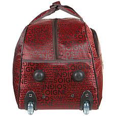 Сумка на колёсах  BagHouse малая  бордовая 50х32х28, полиэстер ксЛ009борм, фото 2