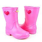 Розовые сапоги на дождь из пены ЭВА, р.28/29, стелька 18 см. Резиновые сапоги., фото 9