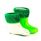 Салатовые сапоги на дождь из пены ЭВА размер 28/29, 32/33 . Резиновые сапоги, фото 6