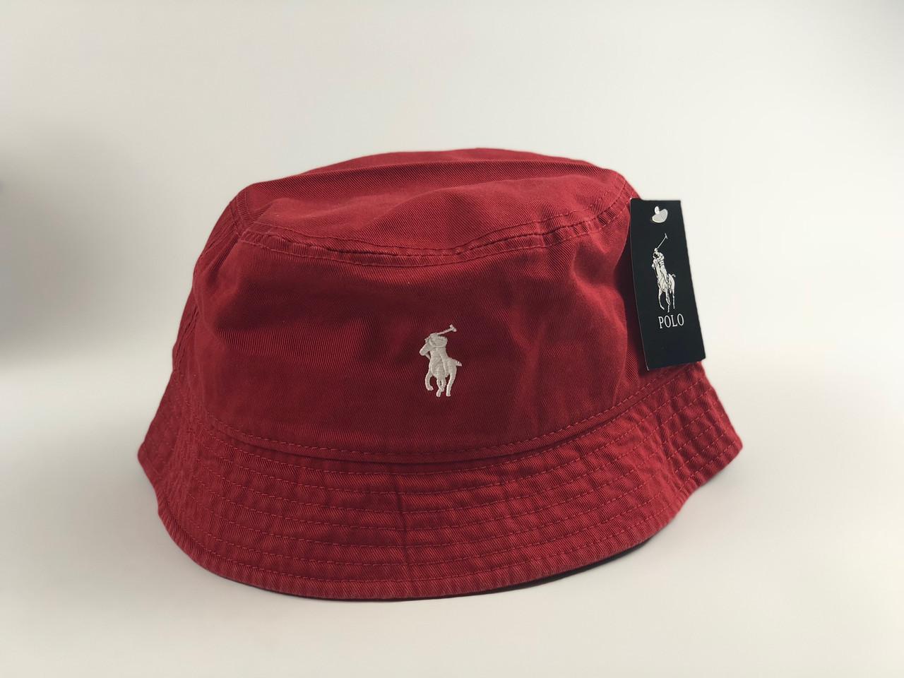 Панама Polo Ralph Lauren - бордовая