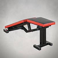 Лавка для жима регульована, з від'ємним кутом до 300 кг Лавка та фіксатори для ніг, фото 3