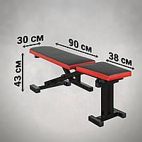 Лавка для жима регульована, з від'ємним кутом до 300 кг Лавка та фіксатори для ніг, фото 4