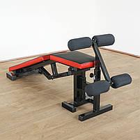 Лавка для жима регульована, з від'ємним кутом до 300 кг Лавка та фіксатори для ніг, фото 2