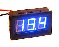 Цифровой вольтметр постоянного тока 0-100В DC Синий автономный