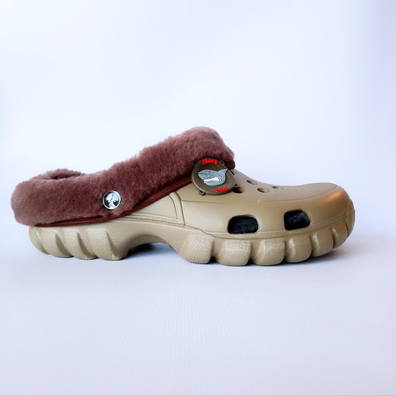 Кроксы-сабо с мехом от Jose Amorales из пены ЭВА ,