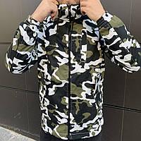 Куртка ветровка мужская демисезонная Off White military, штормовка камуфляж