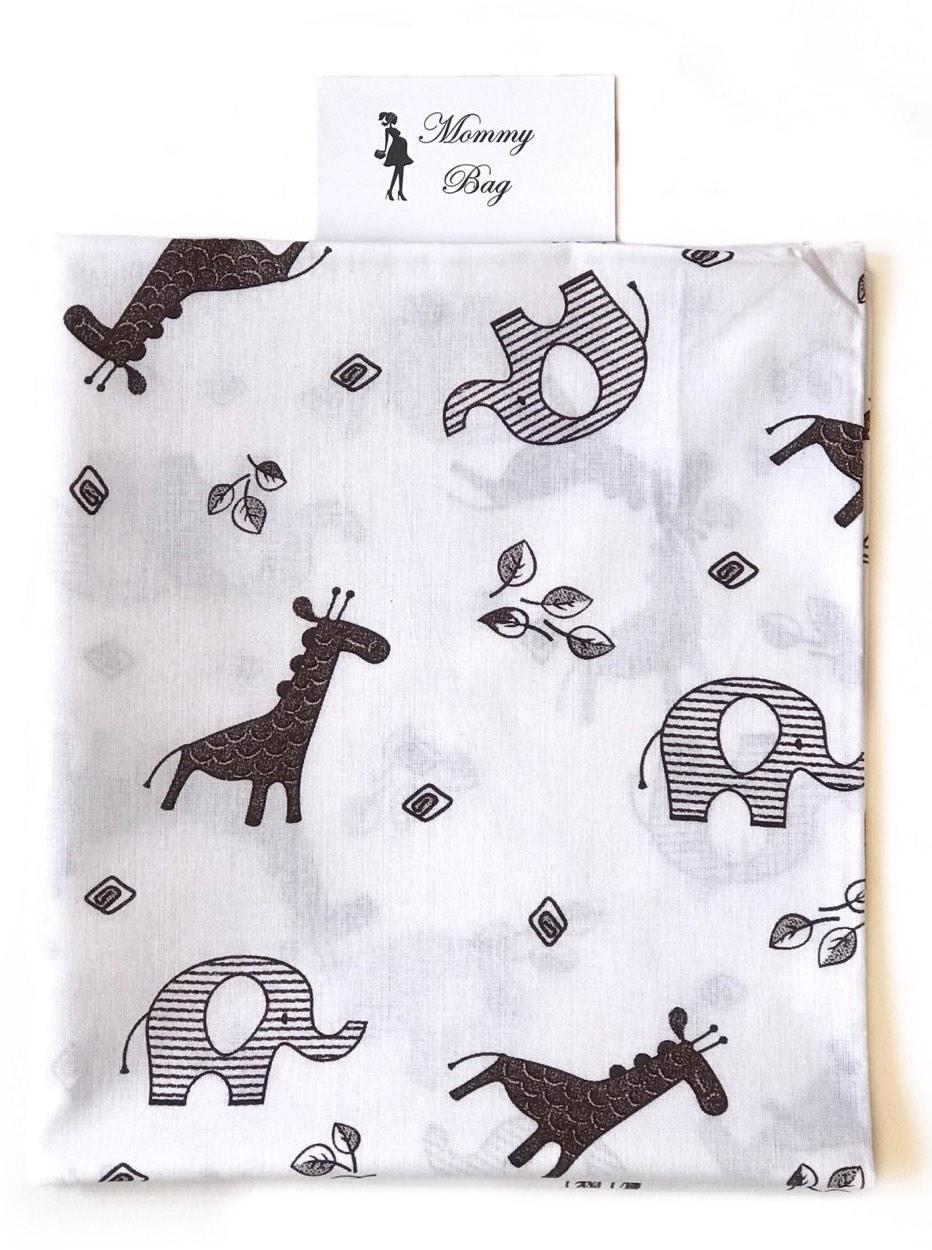 Пеленка ситец Коричневые слоники #3