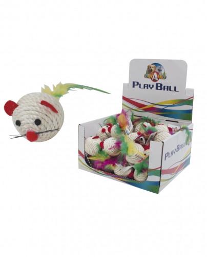 Игрушки для котов мышка Рио, 4,5 см
