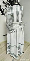 Заготовка для вишивання жіночго плаття