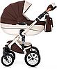 Дитяча універсальна коляска 3 в 1 Riko Brano Ecco 13 Chocolate, фото 4