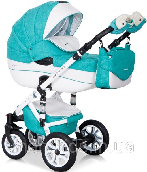 Детская универсальная коляска 3 в 1 Riko Brano Ecco 15 Malachit