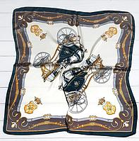 Шейный платок Камилла из вискозы и шелка, 70х70 см, кремовый