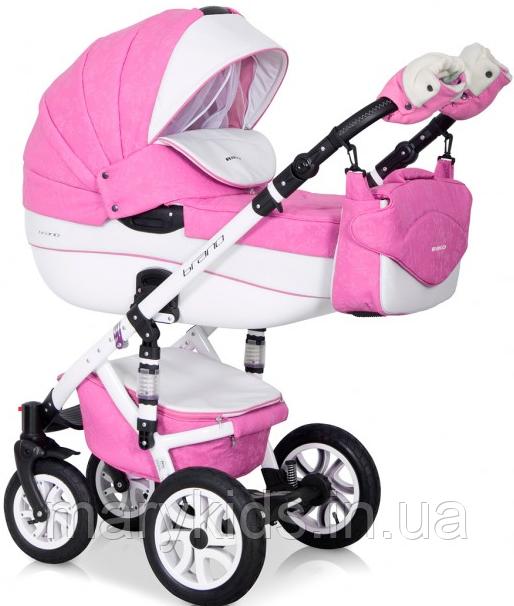 Детская универсальная коляска 3 в 1 Riko Brano Ecco 18 Baby Pink
