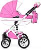 Детская универсальная коляска 3 в 1 Riko Brano Ecco 18 Baby Pink, фото 3