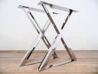 Опора для стола из нержавейки, Ножка из трубы, Основание, х-образный