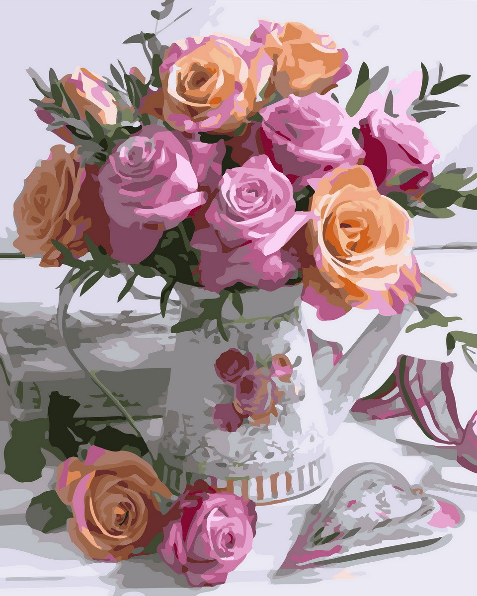 Картина по номерам Розовое великолепие 32925 40*50