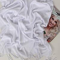 Шарф палантин белый Ozsoy Адель из пашмины 120-18