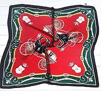 Шейный платок Камилла из вискозы и шелка, 70х70 см, красный