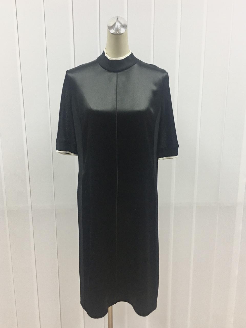 Платье шелковое черное