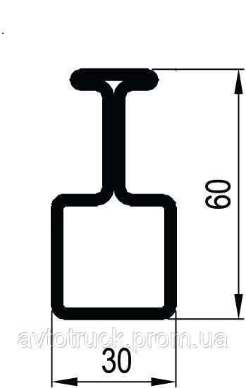 Профиль не отрезной L=4,0м (левый, правый)