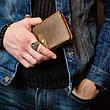 Кожаный кошелек Promin Розовый, фото 6