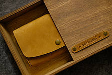 Кожаный кошелек Promo Оливковый, фото 3