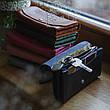 Кожаный клатч «Proza Black» (2 card) женский Черный (17x10 см) ручной работы, фото 6
