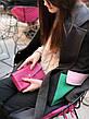Кожаный клатч «Nice Black» (3 card) женский Черный (18,5x10,5 см) ручной работы, фото 5