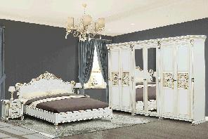 """Спальня  """"Аманда"""" від Скай (білий із золотою патиною)"""