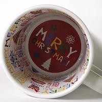 """Чашка сублимационная с внутренним принтом """"Merry Christmas """""""