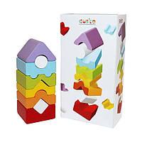 Деревянная пирамида CUBIKA, развивающая игрушка