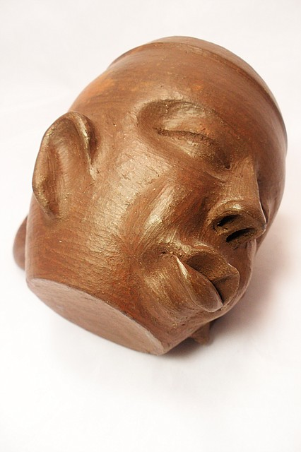 Кружка глиняная, африканский стиль, ручная работа